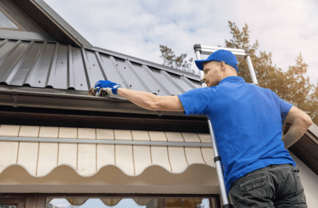 gutter cleaning in peabody